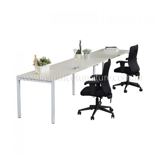 Integral Two In-Line Attached Desks