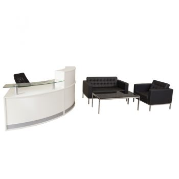Infinity Reception Desk and Nicole Lounge Package