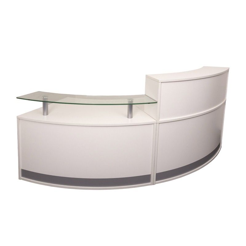 Infinity Reception Desk 2 Piece Fast Office Furniture