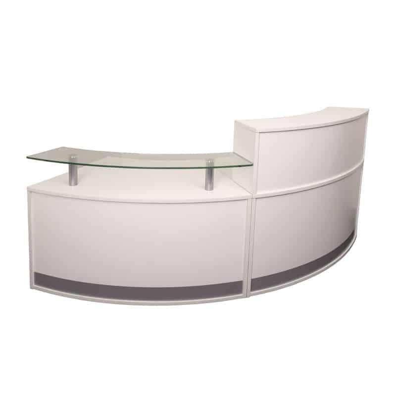 Infinity Reception Desk 2 Piece Fast Office Furniture