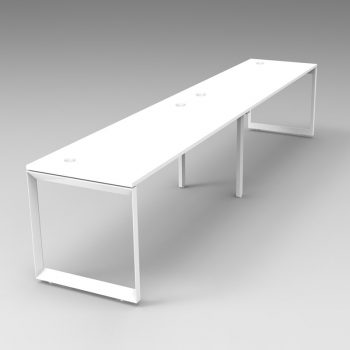Integral Loop Frame 2 Person In-Line Desk