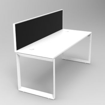 Integral Loop Frame Desk with Screen Divider