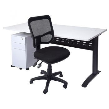 Space System Desk, Slimline Drawer Unit and Stradbroke Chair Package