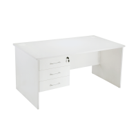 Space Sytem Squareline Desk with Fixed Drawer Unit