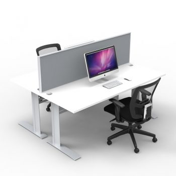 Express Space System 2 Way Desk Cluster, Grey Screens