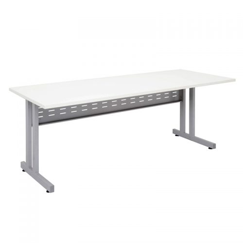 Space System Eco Desk, Natural White Desk Top