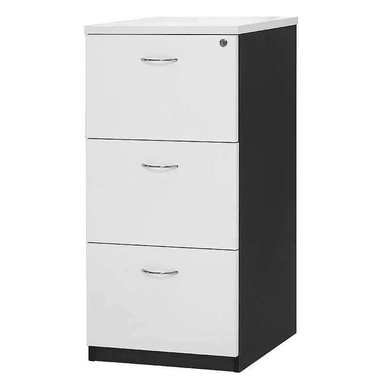 CHILL 3 DRAWER FILING CABINET, MELAMINE