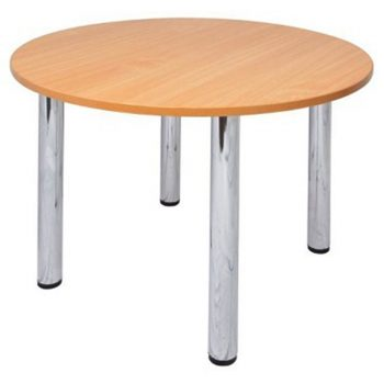 Compact Round Meeting Table, Beech Top