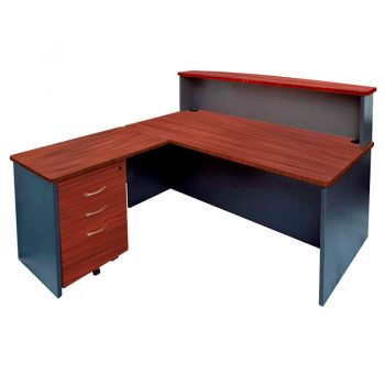 Executive Bow Front Reception Desk with Attached Return