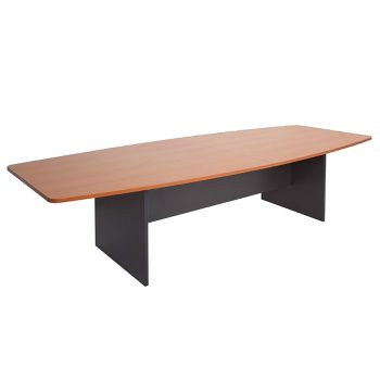 Function Boat Shaped Meeting Table, 3000mm x 1200mm
