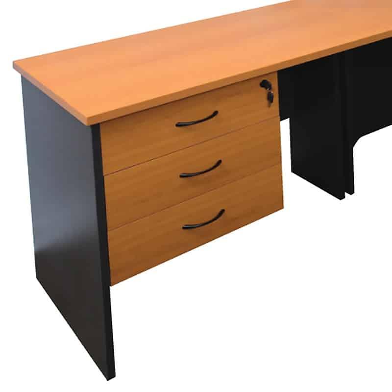 function corner workstation with cowl. Black Bedroom Furniture Sets. Home Design Ideas