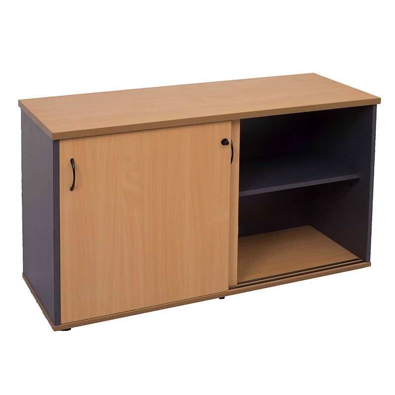 Function Sliding Door Credenza Beech Or Cherry Fast Office Furniture