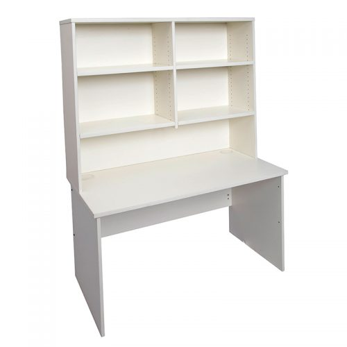 Function Student Desk and Hutch Package Natural White Colour