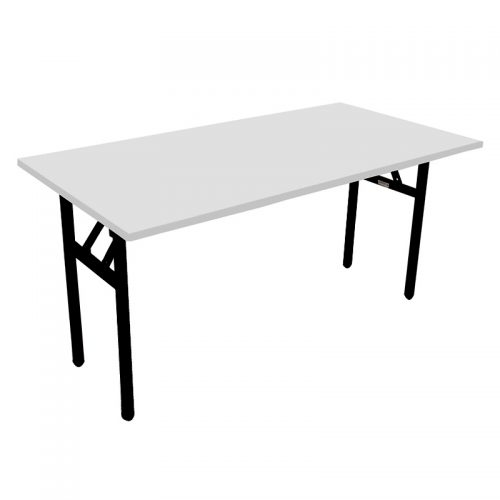 Haley Folding Table, Natural White Table Top