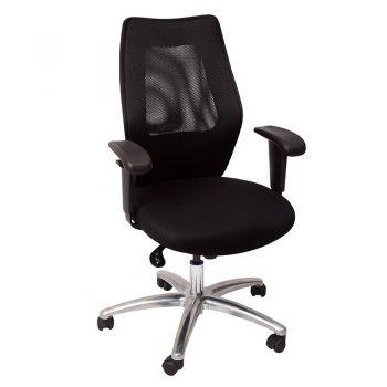 Hastings Chair, Black Mesh Back