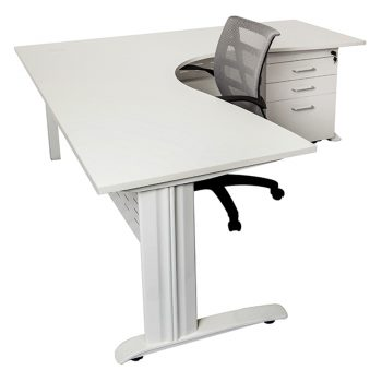 Space System Corner Workstation, Drawer Unit and Levi Chair Package