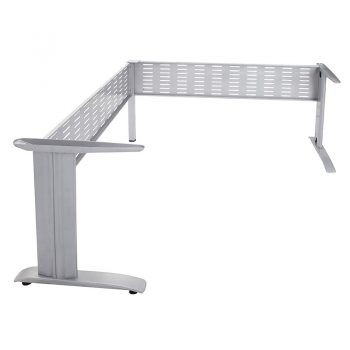 Space System Corner Workstation Under Frame, Silver - No Desk Top