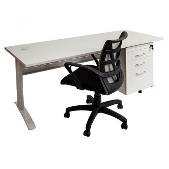 Space System Desk, Drawer Unit and Levi Chair Package