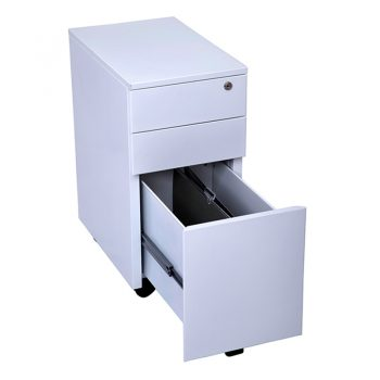 Super Strong Slimline Metal Mobile Drawer Unit, Open