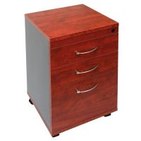 Executive Mobile Drawer Unit with 2 Personal + 1 Deep File Drawer