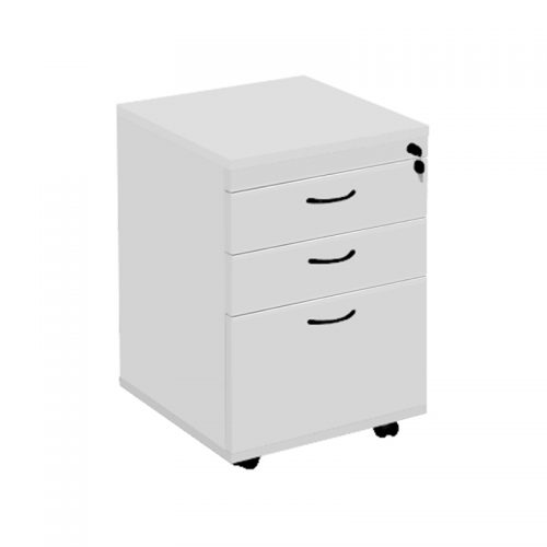 Function Mobile Drawer Unit, Silver Grey