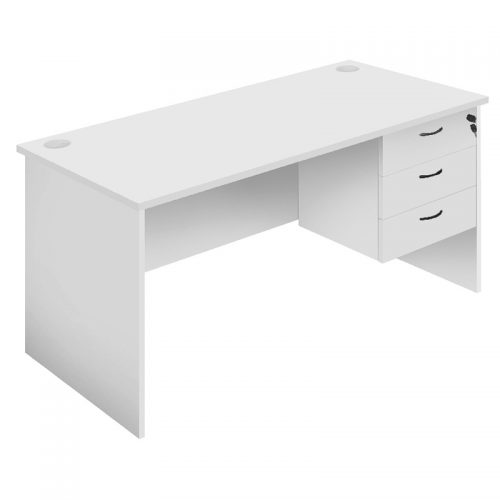 Function Desk Silver Grey