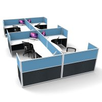 Space System 8 Way Corner Workstation Pod, Image 2