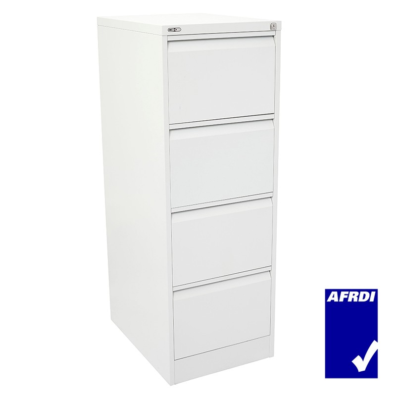 SUPER STRONG FILING CABINET, METAL, FOUR DRAWER