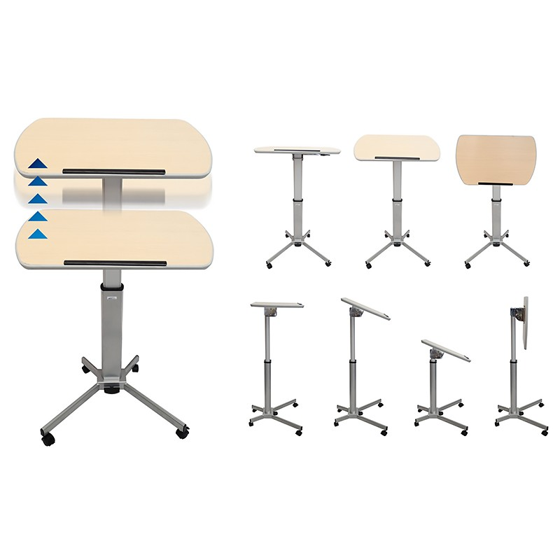 Versatile mobile lift and tilt top lectern table fast for Table options