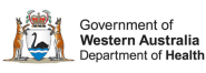 Western Australia Department of Health logo