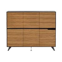 Milana 6 Door Cabinet, Large. 1855mm W x 425mm D x 1550mm H