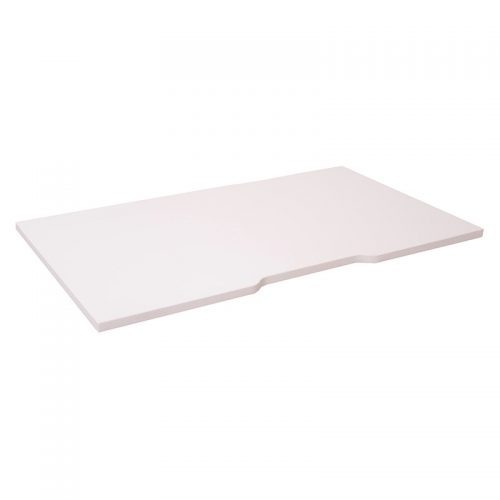 Space System Desk Top with Scalloped Edge, Natural White