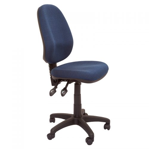 Stradbroke High Back Chair, Navy Fabric