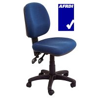 Stradbroke Medium Back Chair, Navy Fabric
