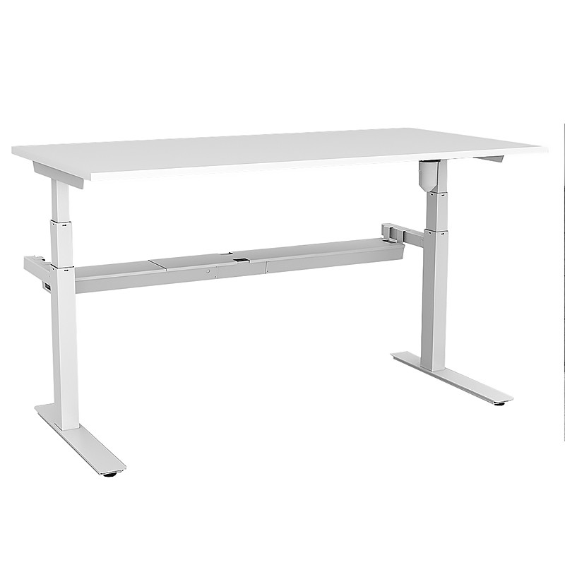 sit height adjustable white electric stand desk office