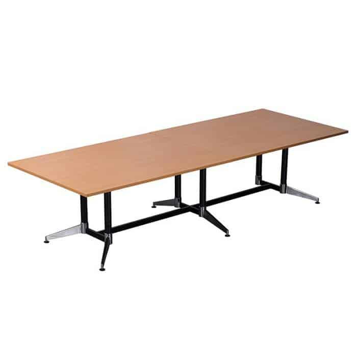 Tessa 3200mm x 1200 Meeting Table, Beech Table Top