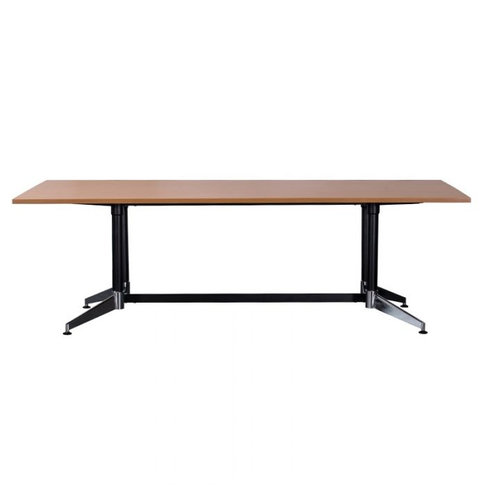 Tessa Meeting Table, 2400mm x 1200mm, Beech Table Top, Side View