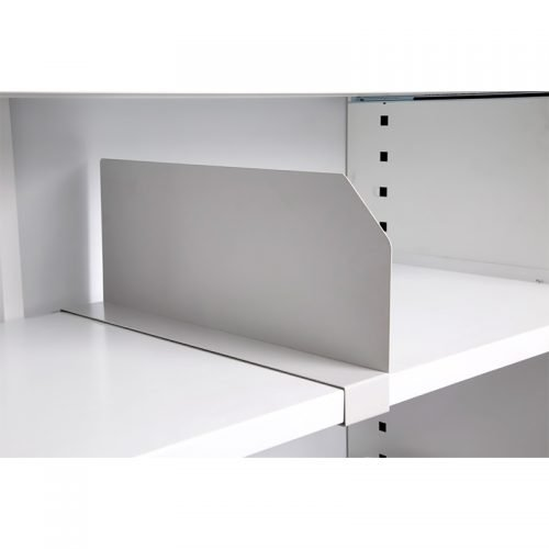 Clip-On Tambour Shelf Divider
