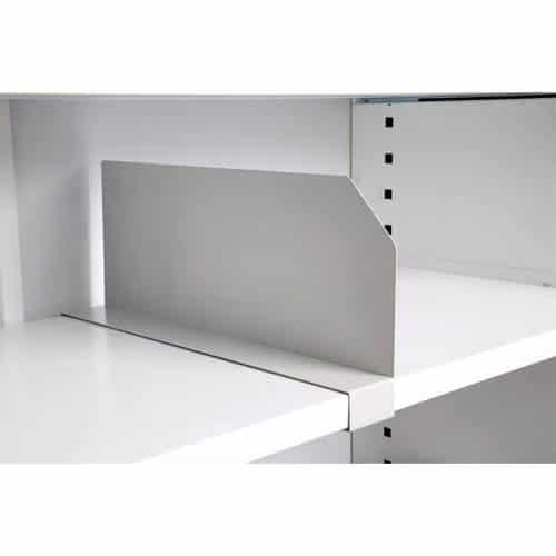 Clip-On Tambour Shelf Divider