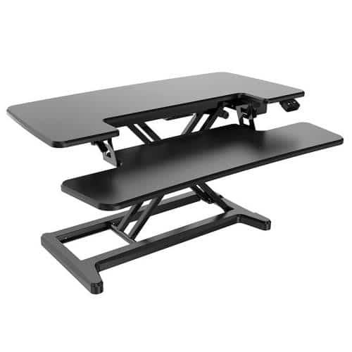 Lift Pro Electric Height Adjustable Desktop Stand, Black