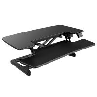 Lift Pro Electric Height Adjustable Desktop Stand, Black. RH Angle View