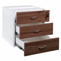 Aspect Fixed Drawer Unit, 3 Personal Drawers, Open
