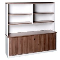 Aspect Sliding Door Credenza with Hutch