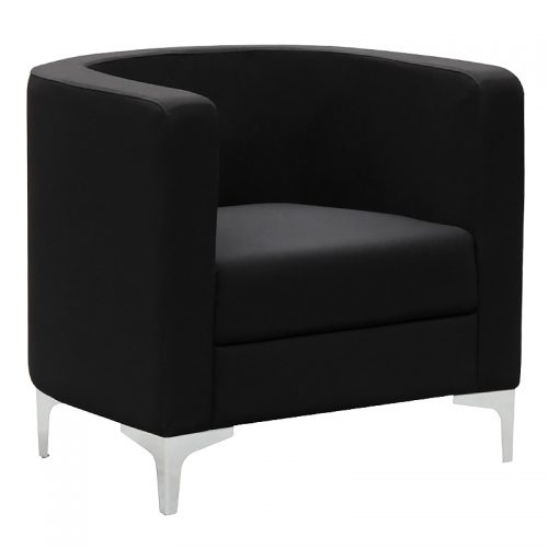 Evia Tub Chair, Black