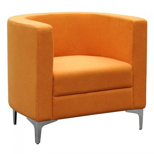 Evia Tub Chair, Orange
