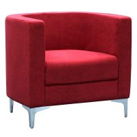 Evia Tub Chair, Red