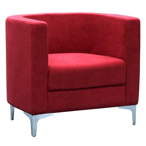 Evia Tub Chair, Red