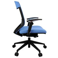Lara Chair, Blue, Side View