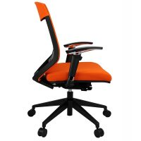 Lara Chair, Orange, Side View