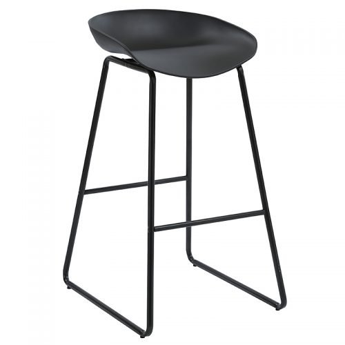 Chloe Bar Stool, Black Seat